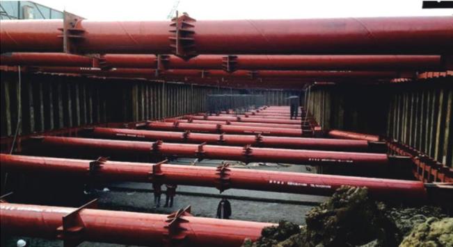 钢板桩应用于长春天泽大路支护工程