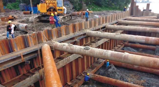 钢板桩应用于哈尔滨滨北桥基坑支护工程