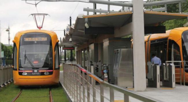 槽型轨应用于上海松江现代城市轨道交通