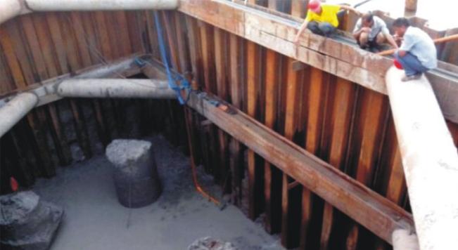 钢板桩应用于泰国港口支护工程