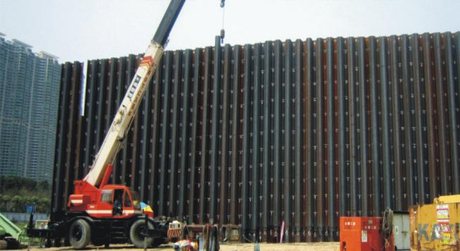 钢板桩应用于香港松浦支护工程