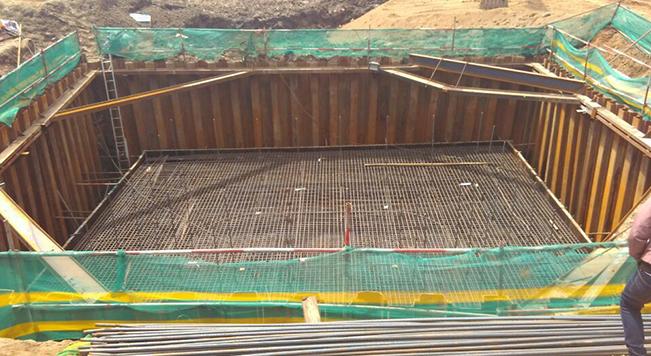 哈尔滨方正特大桥承台基坑维护工程